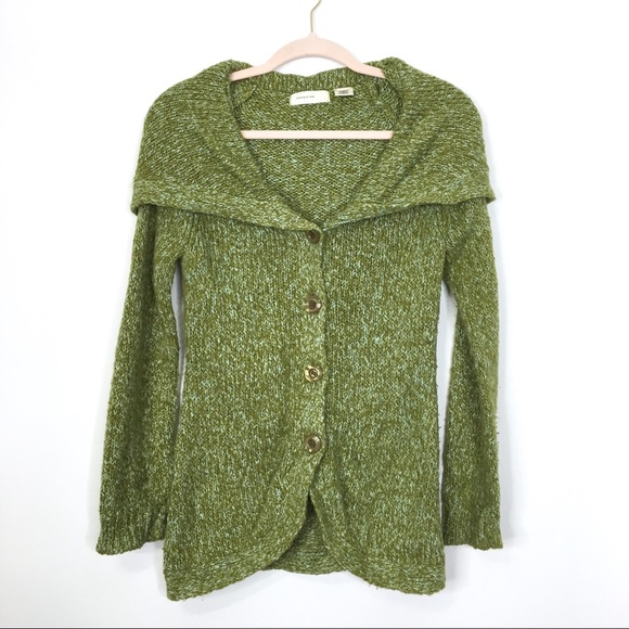 Anthropologie Sweaters - Anthro Sleeping on Snow Over Shoulder Cardigan XS